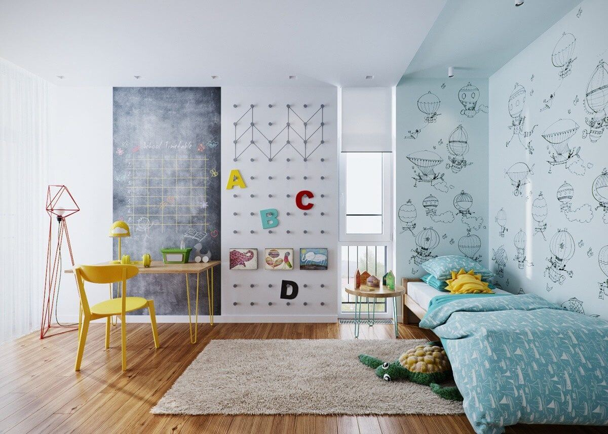 blue-and-green-kids-bedroom-theme