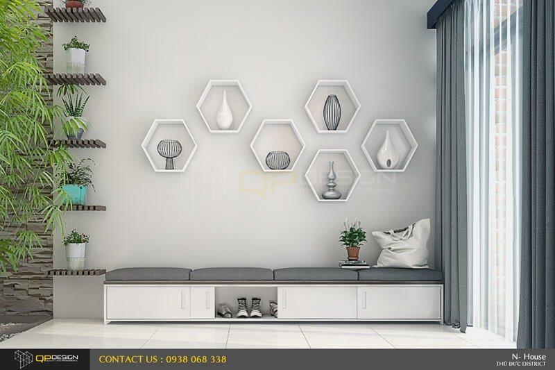 Những ô trang trí trên tường