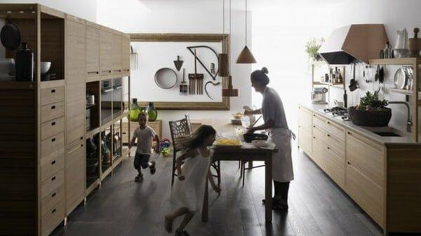 bếp gỗ tự nhiên