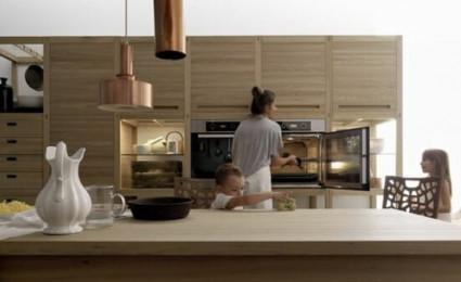 Bếp gỗ tự nhiên- Đẳng cấp của sự sang trọng