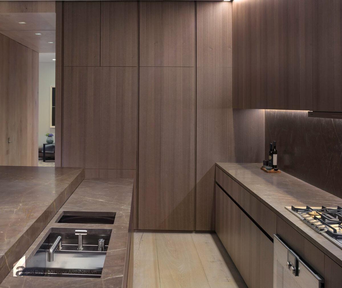 nhà bếp hiện đại và đầy đủ tiện nghi