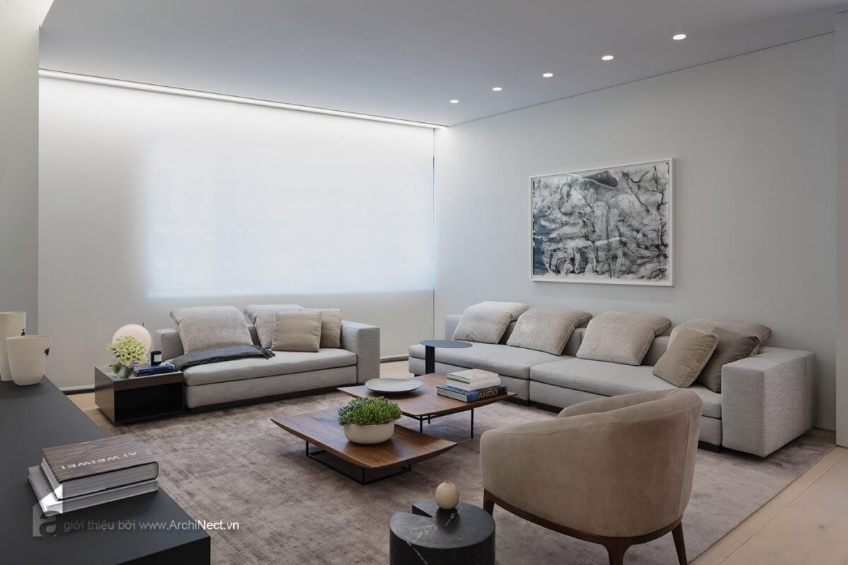 một góc nhìn khác của không gian phòng khách