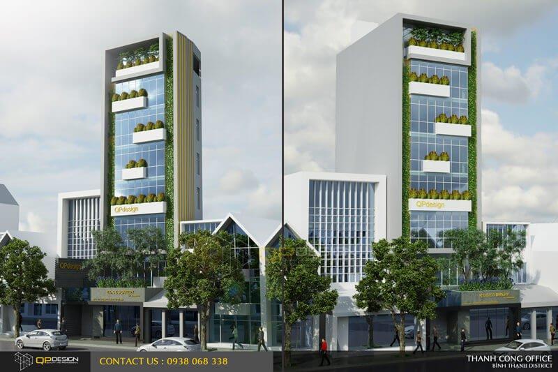 Thiết kế kiến trúc - nội thất tòa nhà văn phòng thành đạt