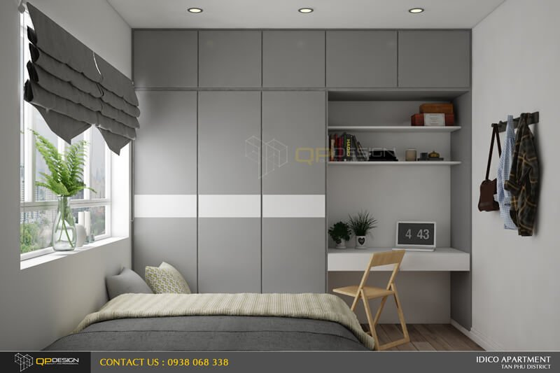 Thiết kế nội thất căn hộ chung cư Idico
