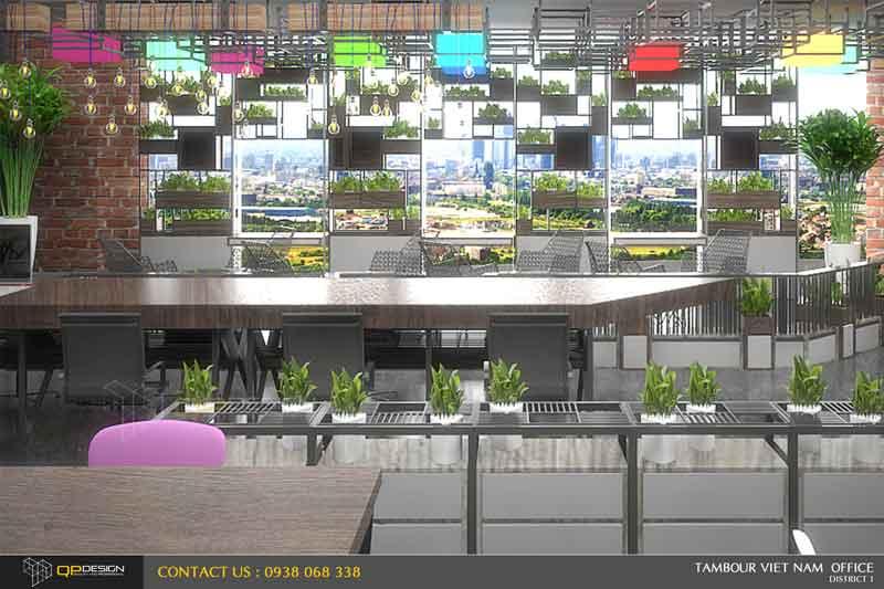 Thiết kế nội thất văn phòng Tambour Việt Nam