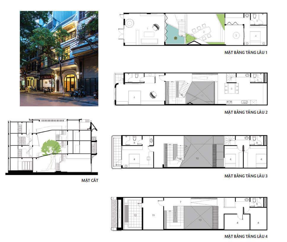 Ngôi nhà phố thiết kế hoài cổ giữa lòng thủ đô xầm uất