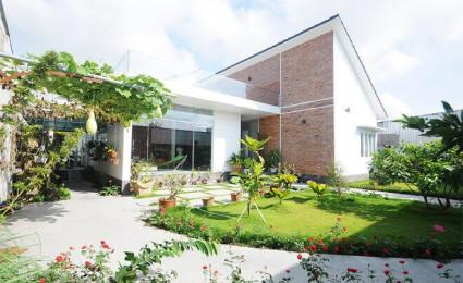 Ngắm nhà đẹp ở Đồng Tháp dùng phần lớn diện tích cho sân vườn