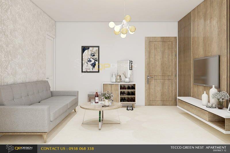 thiết kế nội thất căn hộ chung cư Green nest
