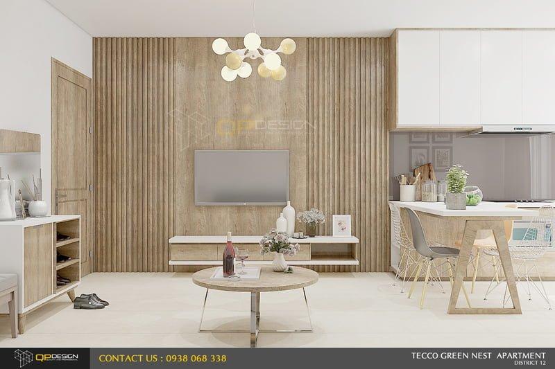 thiết kế nội thất căn hộ chung cư Green nest 3