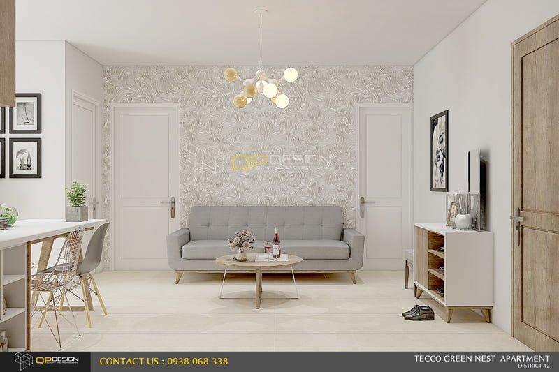 thiết kế nội thất căn hộ chung cư Green nest2