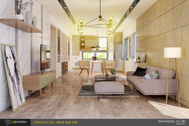 Thiết Kế Nội Thất PentHouse 215 Trần Bình Trọng