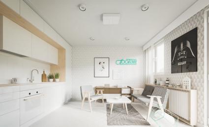 Gợi ý thiết kế nội thất căn hộ nhỏ diện tích dưới 50m²