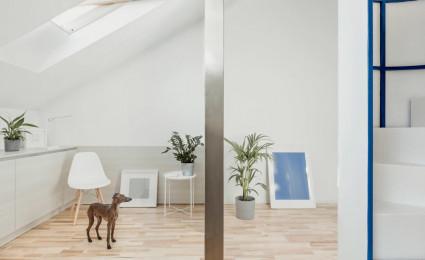 Cải tạo căn hộ gác mái ở Milan
