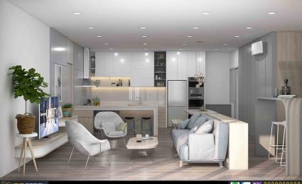 Thiết kế căn hộ The View Rivieva Point Quận 7 theo phong cách tối giản
