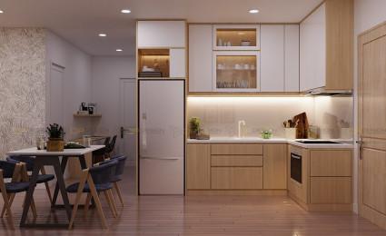 Thiết kế nội thất phòng bếp căn hộ Vinhomes