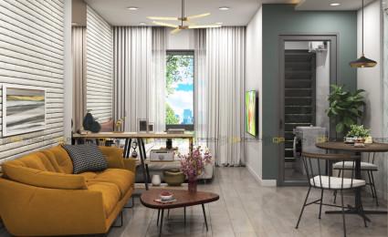 thiết kế nội thất căn hộ studio cho thuê
