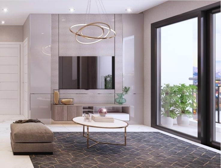 Thiết kế nội thất căn hộ Safira Khang Điền
