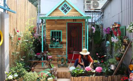 Khu vườn mini siêu dễ thương của một gia đình ở Sài Gòn